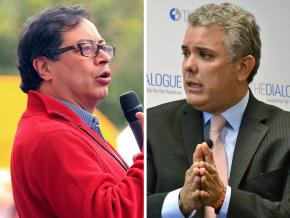 Left to right: Gustavo Petro and Iván Duque
