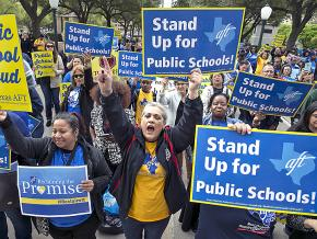 Teachers take to the streets of Houston to defend public education
