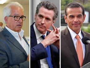 Left to right: California gubernatorial candidates John Cox, Gavin Newsom and Antonio Villaraigosa