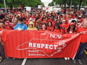 North Carolina teachers march in defense of public education