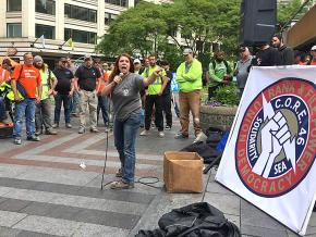 Building trades workers rally against exploitative conditions in Seattle
