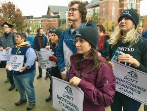 Faculty at the University of Vermont demand a fair contract