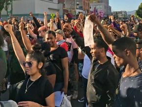 Protesters demand justice for Nia Wilson in Oakland, California