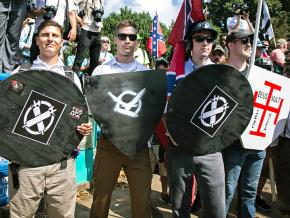 Nazis on the march during the Unite the Right rally in Charlottesville