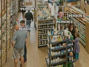 An Amazon Rekognition interface records information about the faces of shoppers