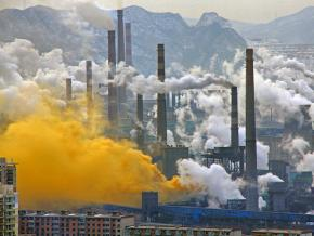 A steel mill in China's Liaoning province