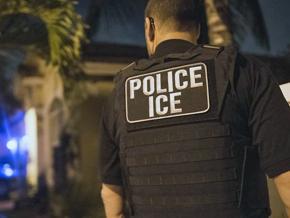 ICE agents on a raid