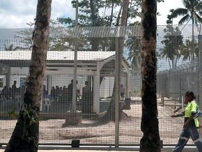 A refugee detention center on Manus Island in Papua New Guinea