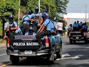 Police officers deploy to repress ongoing popular demonstrations in Nicaragua