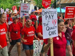 Striking nurses build solidarity in Burlington, Vermont