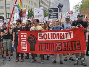 Anti-fascists take to the streets of Washington, D.C.
