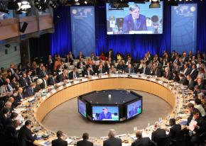 A joint meeting of the World Bank and International Monetary Fund in Washington, D.C.