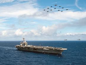 The aircraft carrier USS Carl Vinson in the Pacific