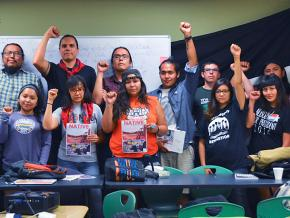 Indigenous activists stand in solidarity at the Third Annual Native Liberation Conference