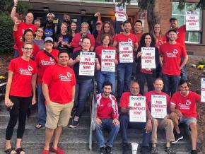 Seattle teachers rally for a fair contract