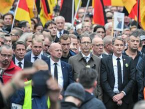 Officials of the Alternative for Germany party marched alongside open fascists in Chemnitz