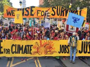 Tens of thousands took to the streets of San Francisco to protest the climate crisis