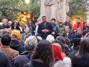 Mourners attend a vigil following the anti-Semitic massacre in Pittsburgh