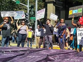 Anti-racist activists rally against police brutality in Sacramento