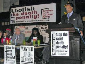 Rev. Jesse Jackson speaks at a Campaign to End the Death Penalty forum in Chicago in 1999