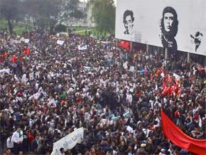 University students strike to save public education in Bogotá, Colombia