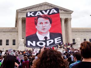 Protesters rally against Brett Kavanaugh outside the Supreme Court