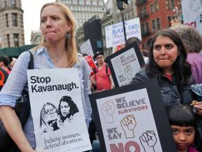 Protesters in New York City demand justice for survivors of sexual violence
