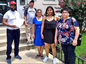 Supporters rally in solidarity with rent strikers in Washington, D.C.