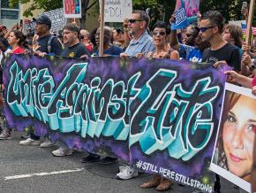 Protesters march against far-right violence in Washington, D.C.