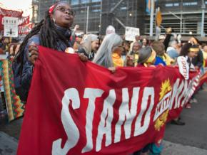 Protesters take to the streets against capitalist climate change in San Francisco