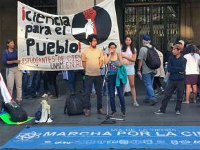 Meeting after the March for Science in Mexico City in 2018