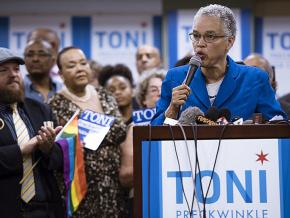 Cook County Board President Toni Preckwinkle announces her candidacy for Chicago mayor