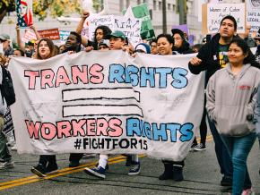 Marching for trans liberation on International Women's Day in Los Angeles
