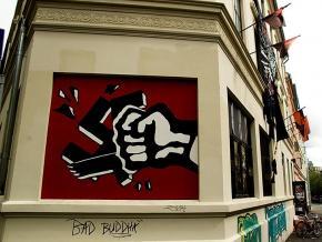 An anti-fascist mural in Oslo, Norway