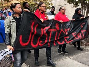 "Activists march against the police murder of Emantic ""EJ"" Bradford Jr."