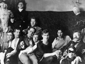 Dr. Magnus Hirschfeld (at right) attends a party at the Institute for Sexual Science