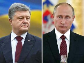 Left: Petro Poroshenko; right: Vladimir Putin