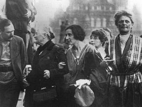 Communist women leaders at the Third Congress of the Comintern, including Clara Zetkin (second from left)