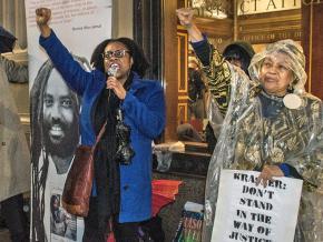 Anti-racist activists rally for Mumia Abu-Jamal in Philadelphia