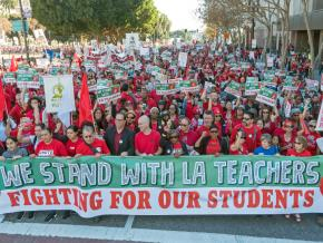 Los Angeles teachers march for education justice