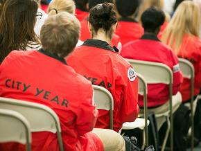 City Year employees attend an AmeriCorps meeting in Boston
