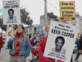 Protesters mobilize against the scheduled execution of Kevin Cooper in 2004
