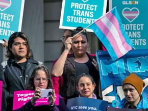 Demonstrators rally for trans rights in New York City