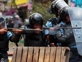Nicaraguan police fire on protesters during demonstrations against the Ortega government