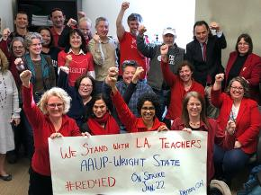Educators set to strike at Wright State University in Dayton, Ohio send solidarity to L.A. teachers