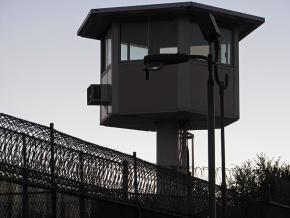 Outside a Los Angeles prison