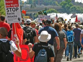 Protesters confront the far right in Portland, Oregon
