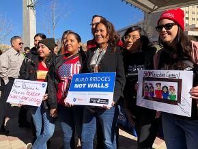 Educators protest the detention of immigrant children in El Paso, Texas