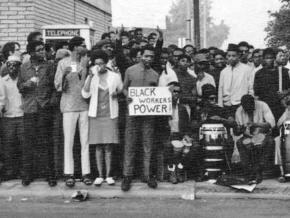 Black autoworkers show their power during the DRUM uprising in Detroit in 1968