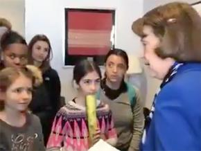 Sen. Dianne Feinstein lectures middle and high school students